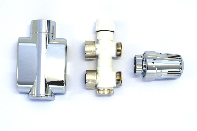 Thermostat rechts oder Links Mert ECAM Komplettset Weiss DURCHGANGSFORM 5 St/ück